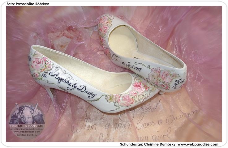 Braut Schuhe Individuell Bemalt Hochzeitsschuhe Personalisiert