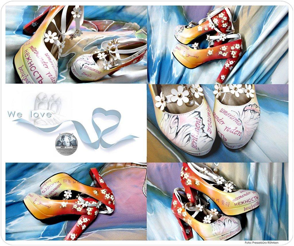 Schuhbemalung Schuhbemalungen Braut Hochzeit Hochzeits Schuhe