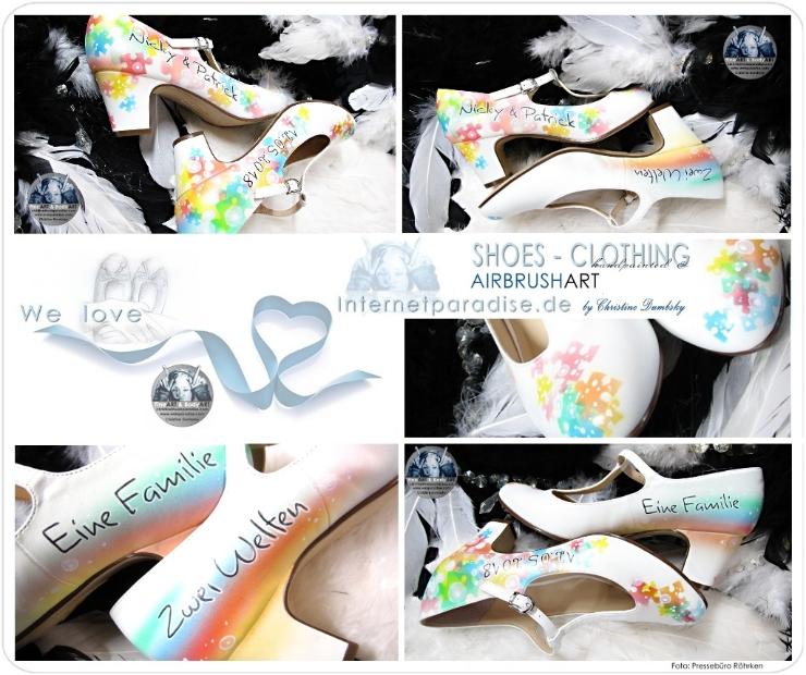 Schuhbemalung Schuhbemalungen Handbemalt Handbemalte Braut Hochzeit
