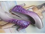 Handbemalte Damenschuhe Mode Bemalte Schuhe Designer Airbrush
