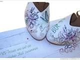 Braut Schuhe Handbemalt Tattoo Vorlage Schmetterling Sterne Airbrush