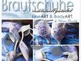 Braut Schuhe Tattoo Motiv Bemalt Bemalte Hochzeitsschuhe Individuell